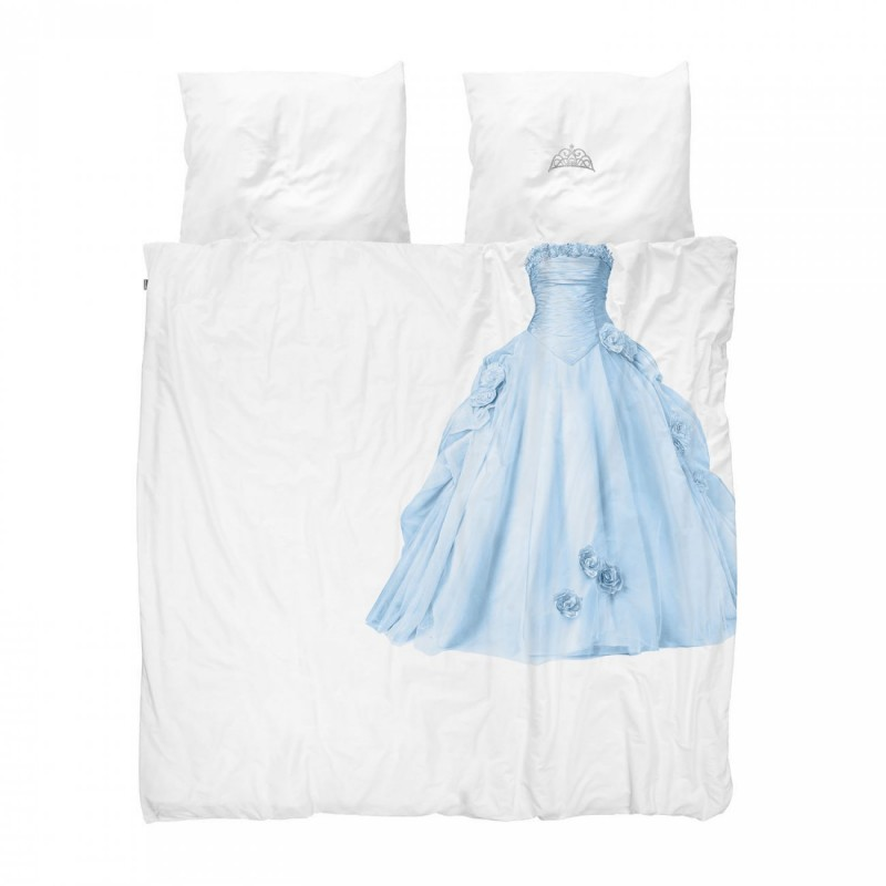 Dekbedovertrek Princess blauw