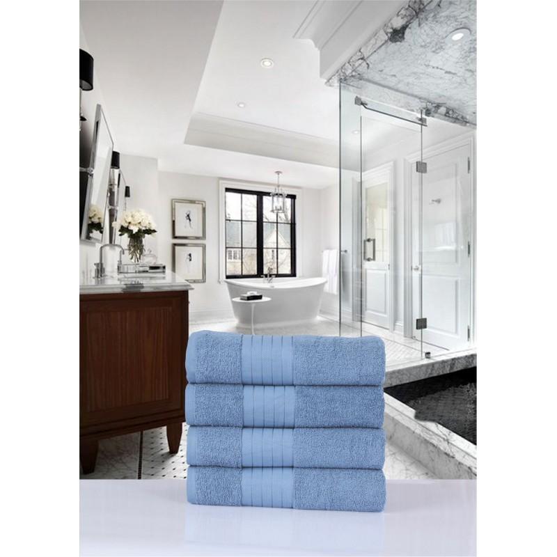 handdoeken  set nr.1000 ice blauw