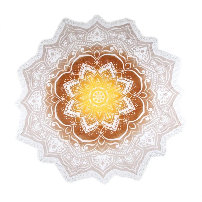 Strandlaken flower shape ø 160 cm HIP nr.2068 mul...