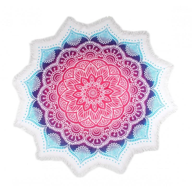 Strandlaken flower shape ø 160 cm HIP nr.2070 mul...