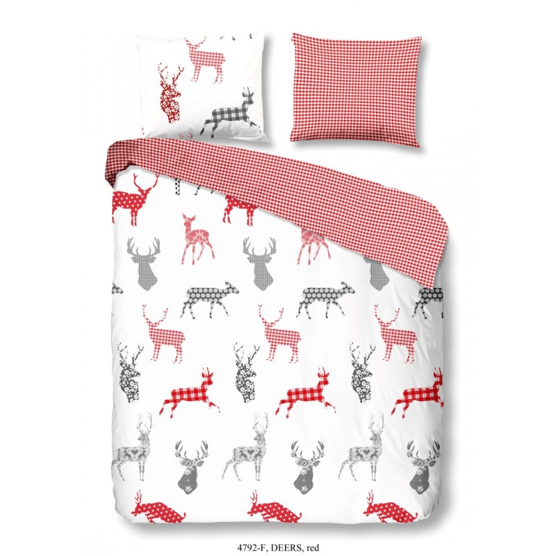 Dbo  flanel all-over nr.4792 rood