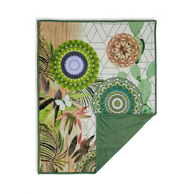 Plaid  polyester HIP nr.6113 groen