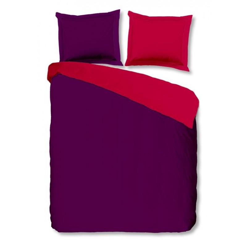 Dbo  uni strijkvrij paars/roze