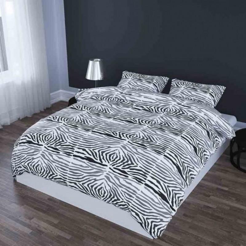 Dekbedovertrek  Satin d'Or Zebra Wit-Zwart